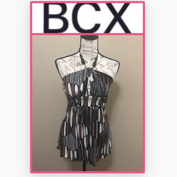 BCX Tops - BCX Women's Black/Brown Halter Top Small